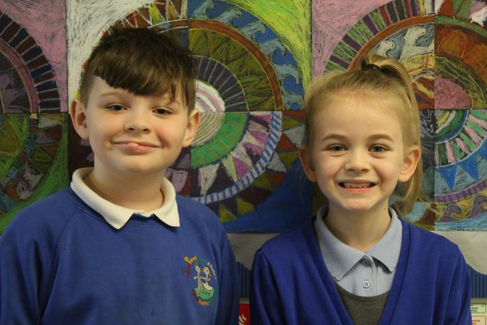 Year 4 Pupils of the term. Oscar and Elishia