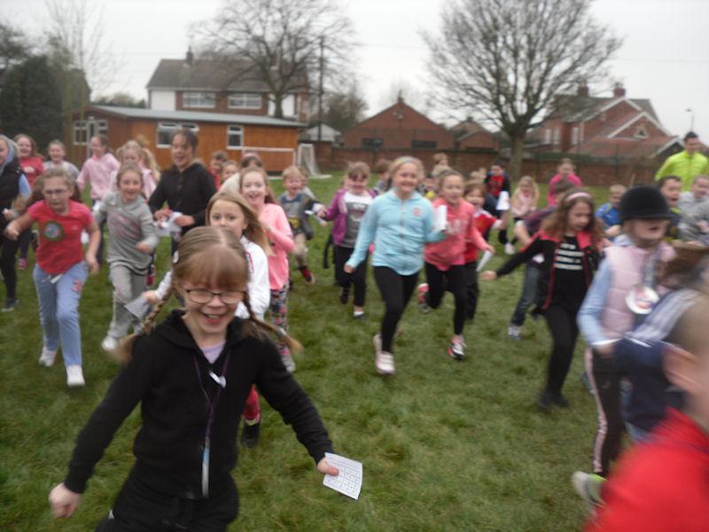 Children go all blurry when running at speed.