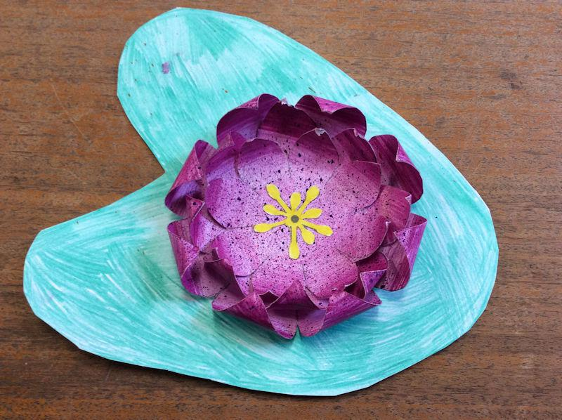 Get CRAFTY! (Lotus flower - a symbol of Buddhism)