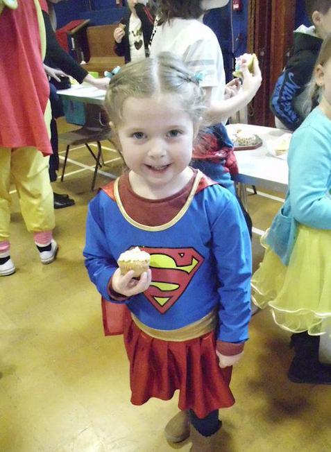 Super-heroes like cakes, too!