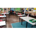 Chairs in classrooms are 2m apart
