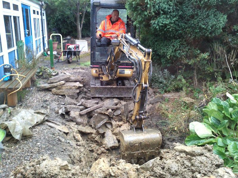Smashing up the old pond!