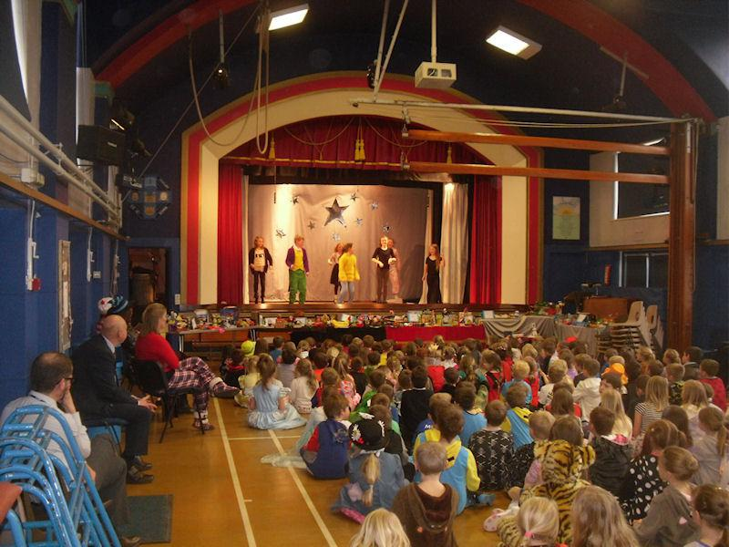 Some Y5s take to the stage for a dance.