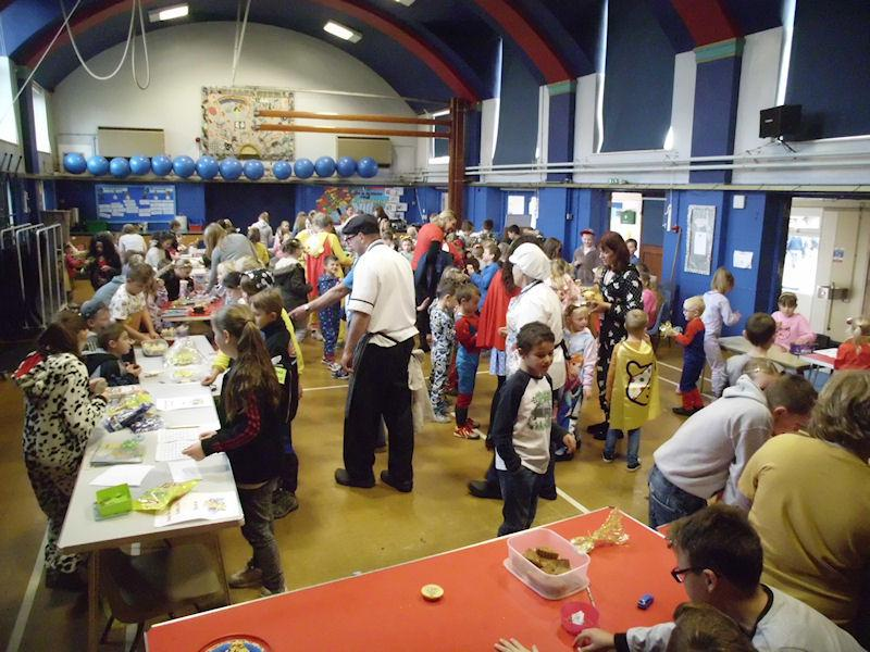 Our children and staff enjoying the many stalls.