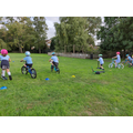 KS1 Bike and Scooter Club - turning practise