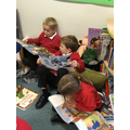 Relaxing in our reading corner.