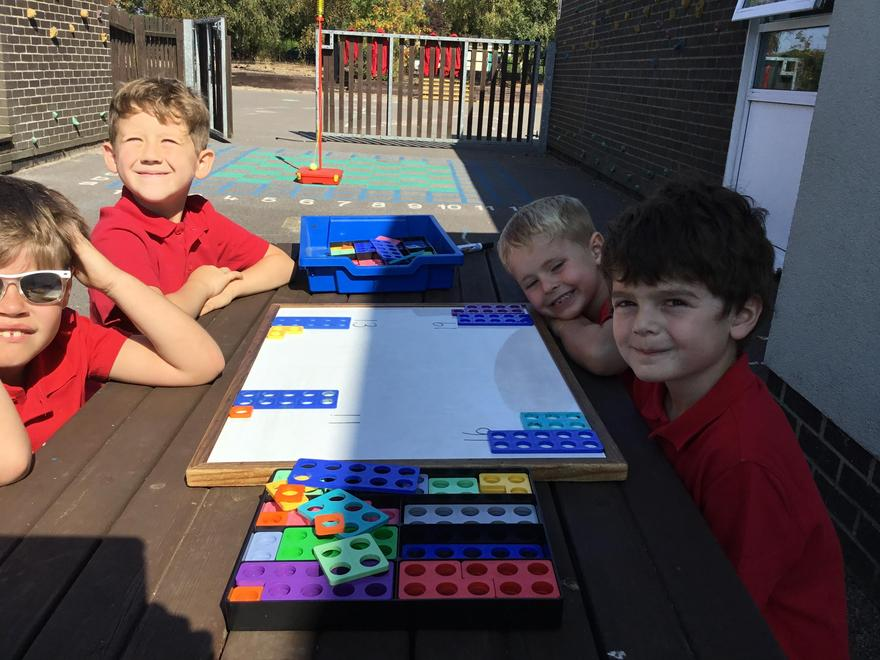 8/9/21 - We made two digit numbers using numicon.