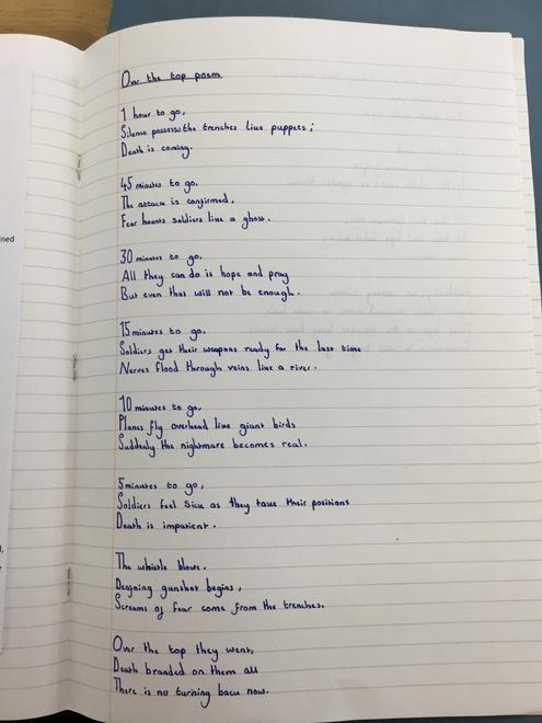 WW1 'Over the Top' Poem