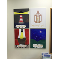 Symbols to represent our Christian Ethos painted by children