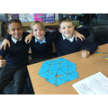 Y5 - Team work to solve Maths problems.
