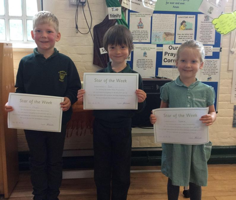 Shining Star of the week 18th Oct 2019