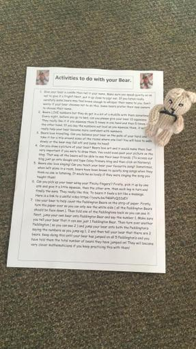 Activities and challenges for you to do with your bear!
