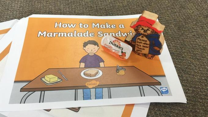 Make a marmalade sandwich- Read the story with a grown up and make a sandwich.