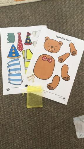 Split pin bear- Can you make a bear that moves using the split pins to help?