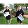 Y6 Contribution to School Life Award - Florence & Jacob