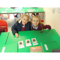 Ava and Jolene working hard in Science