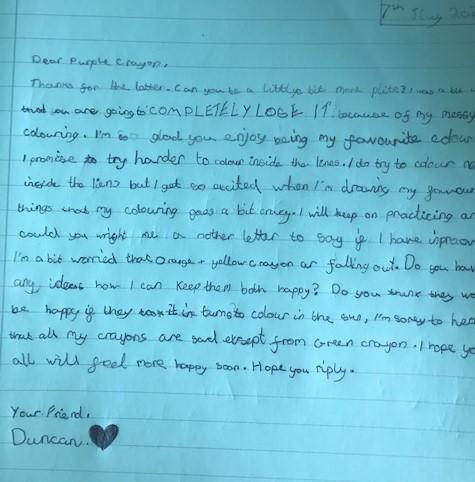 Letter from Duncan.