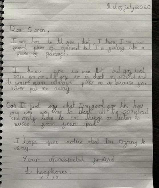 Letter from some headphones!