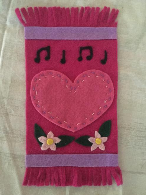 Mrs Meek's special prayer mat