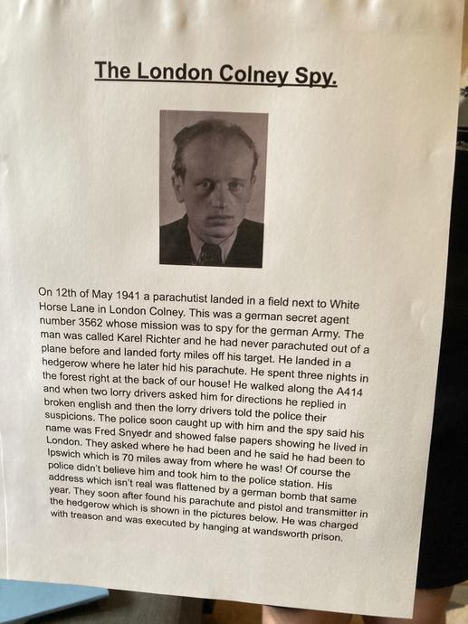 An interesting read about The London Colney Spy!