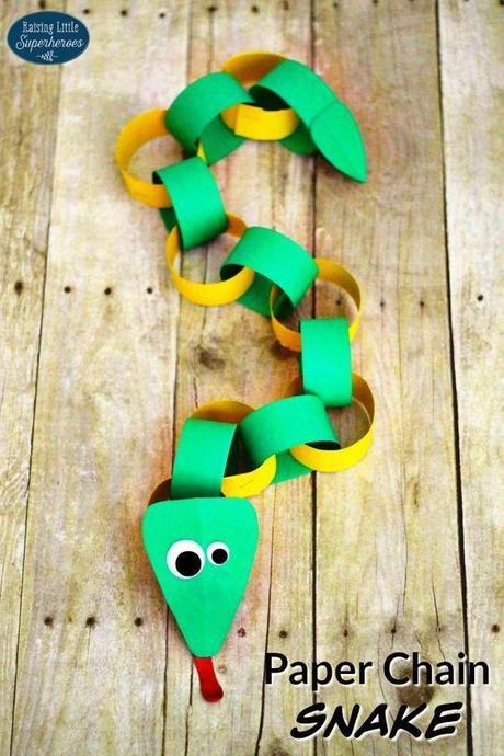 Make a paperchain snake