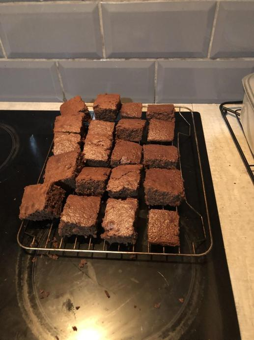 Luella made these amazing brownies