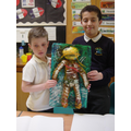 Alfie and Ayman Looking Proud of their Final Piece!