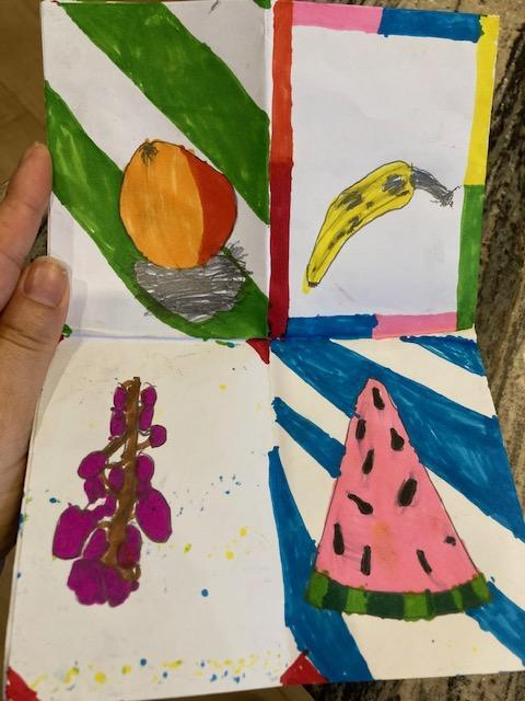 Ali has used colour really well in his art work.