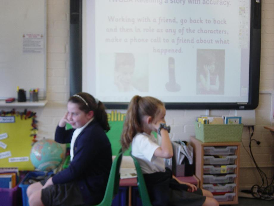 "Ring Ring...""Could you please call back later. We're doing our hair!"" asked Freya and Ava"
