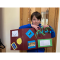 Finn is very proud of his Lapbook