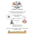 World Book Day Lunch Menu