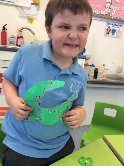 paper plate T Rex