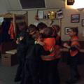 Huddling like penguins!