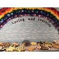 Our beautiful pompom rainbow