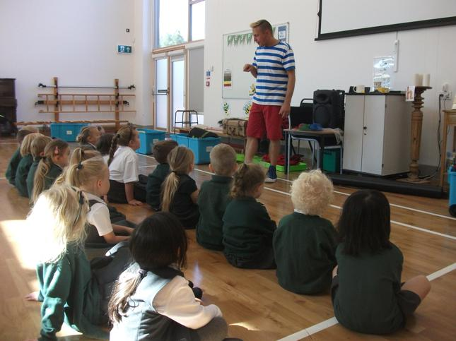 The children meet their new teacher!