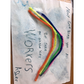 Asher's rainbow in support of key workers