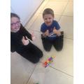 Rory and Zara made caterpillars