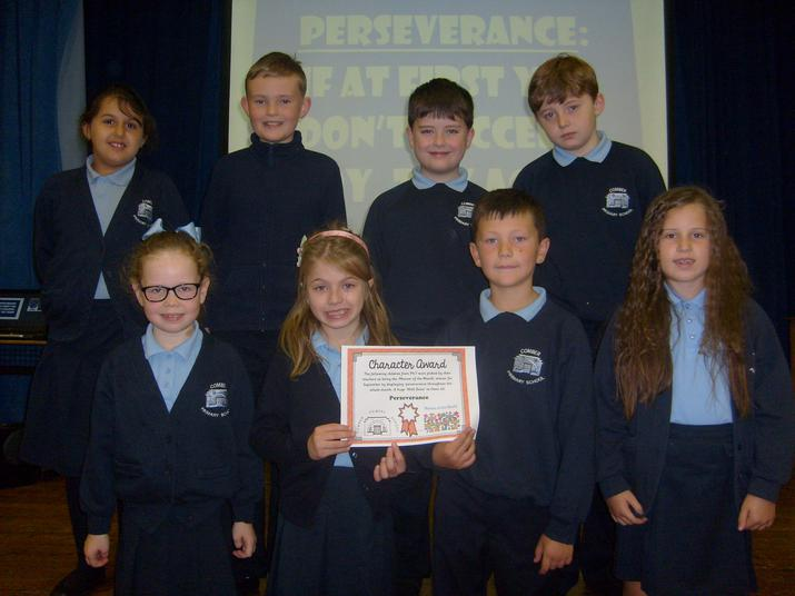 September winners for displaying 'Perseverance'