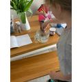 Heidi enjoyed the dissolving experiment