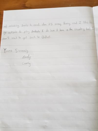 Carly evacuee letter 2