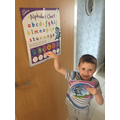 Rory has been getting stickers for great reading.