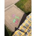 Alesha's Chalk creation