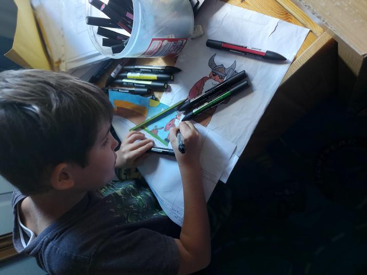 Dylan working hard