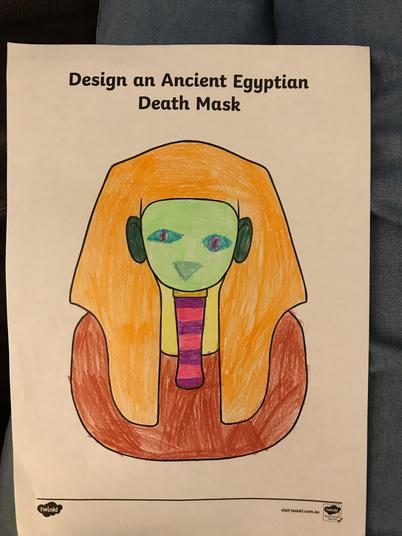 Emily H's Egyptian Death Mask - I love the colours