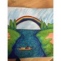 Blake's rainbow art