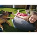 Lara and her dog
