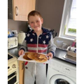 Callum making pancakes. They look so good!