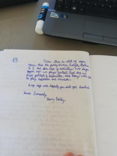Harry evacuee letter 3