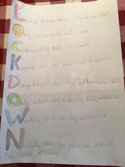 Robbie lockdown poem