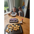 Ella and Ethan have been baking...yummy!